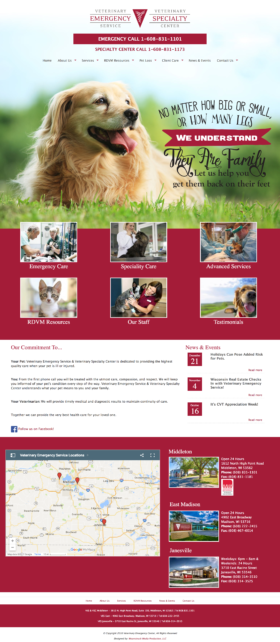 Veterinary Emergency Service Website